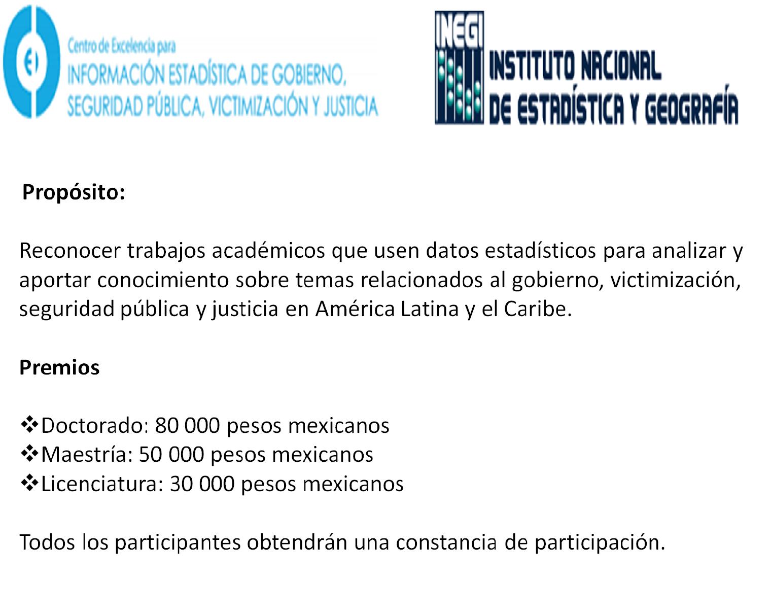 6° Concurso Internacional de Tesis sobre Seguridad Pública, Victimización y Justicia en América Latina