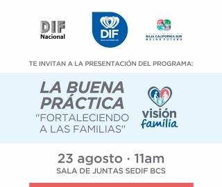 """El DIF Nacional y el DIF Baja California Sur Invitan a la presentación del programa """"Fortaleciendo a las familias"""""""