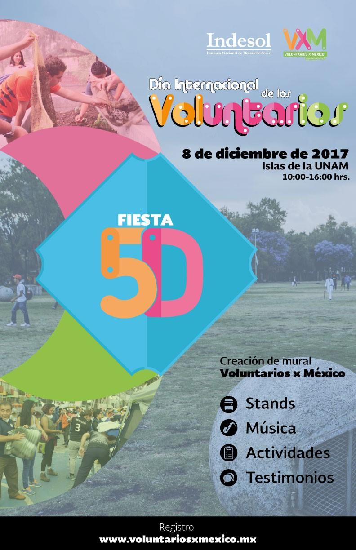 FIESTA 5D – Día Internacional de los Voluntarios (DIV) 2017