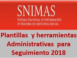Plantillas de carga y herramientas para el seguimiento del SNIMAS 2018