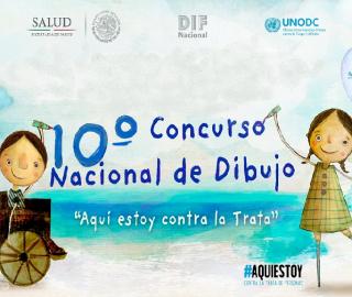 """Premia DIF Nacional a ganadores del 10º Concurso Nacional de Dibujo """"Aquí estoy contra la Trata"""""""
