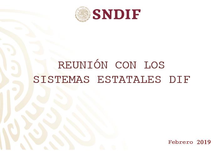 Reunión con enlaces de los Sistemas Estatales DIF